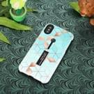 Naadloze ruit patroon reliëf geschilderd TPU + PC Case met houder voor iPhone XS Max(Baby Blue)