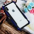 Blade acryl + TPU Shockproof beschermhoes voor iPhone XS Max (blauw zwart)