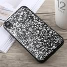 Glittery poeder Shockproof Soft TPU Case voor iPhone XR (zilver)