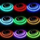 1m USB TV zwart bord RGB Epoxy touw licht  12W 60 LEDs SMD 5050 met 10-sleutels RF draadloze afstandsbediening  DC 5V