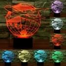 Vangbal van Azië-stijl 3D Touch schakelaar bediening LED zaklamp  7 kleur verkleuring creatieve visuele Stereo Lamp Desk Lamp nachtlampje