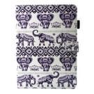 Voor iPad mini 4 / mini 3 / mini 2 / mini universele olifant Lotus patroon horizontale Flip leren beschermhoes met houder & Card Slots & slaap