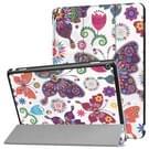 Huawei MediaPad M3 Lite 10 vlinder patroon horizontale vervorming Flip lederen draagtas met drie-vouwen houder & slaap / Wake-up
