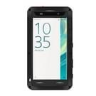Sony Xperia XA Stofdicht shockproof anti-slip metalen + siliconen LOVE MEI Hoesje (zwart)