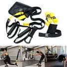 P3-3 verstelbare Fitness oefening hangende trekken touw TRP3X muur katrol Yoga band  belangrijkste gordel: 1 4 m  1.9 m nadat aangepast  atletische versie (zwart + geel)