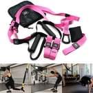 P3-3 verstelbare Fitness oefening hangende trekken touw TRP3X muur katrol Yoga band  belangrijkste gordel: 1 4 m  1.9 m nadat aangepast  atletische Version(Pink)
