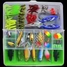 101 PCS aas vissen lokken Kit Fishing Tackle (groen)