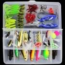 101 PCS aas vissen lokken Kit Fishing Tackle (wit)
