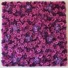 Paarse bloeiende Rose Peony Hydrangea kunstmatige codering bloem DIY bruiloft muur decoratie Foto-achterwand  formaat: 50 x 50 cm