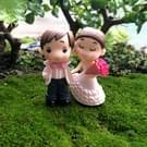 Victoriaanse stijl huwelijk trouwen bruid bruidegom boeket paren decoratie Moss Micro landschap hars ornamenten