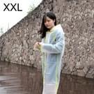 Modieuze eenvoudige mannelijke en vrouwelijke studenten één transparante matte regenjas (groene XXL)
