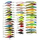 HENGJIA 43 PCS Fly Fishing Lure instellen 6 modellen Fishing Tackle Plastic Hard aas lokken Wobbler Carp
