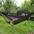 Draagbare buiten parachute hangmat met klamboes (Army Green)