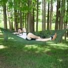 Draagbare Outdoor Camping vol-automatische nylon parachute hangmat met klamboes  grootte: 290 x 140cm (camouflage)