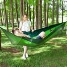 Draagbare Outdoor Camping vol-automatische nylon parachute hangmat met klamboes  grootte: 290 x 140cm (groen)