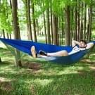 Draagbare Outdoor Camping vol-automatische nylon parachute hangmat met klamboes  grootte: 290 x 140cm (blauw)