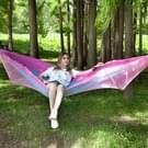 Draagbare Outdoor Camping vol-automatische nylon parachute hangmat met klamboes  grootte: 250 x 120cm (roze blauw)