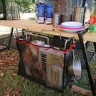 Buiten picknick opvouwbaar Camping Mesh mand metalen beugel Kookwaren houder organisator Rack