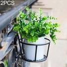 2 PC'S ijzeren metalen reling ingegoten plant planken opknoping bloempot rack (zwart)