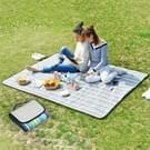 600D waterdichte Oxford opvouwbare doek Outdoor strand Camping Mat Picknickkleed.  grootte: 150 * 100cm  willekeurige kleur levering