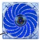 12025 4 pin DC 12V 0.30A Computer hoesje Cooling Fan [PEVF koeler ontmoette LED licht  Afmeting: 120x120x25mm (blauw)