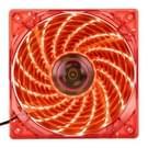 12025 4 pin DC 12V 0.30A Computer hoesje Cooling Fan [PEVF koeler ontmoette LED licht  Afmeting: 120x120x25mm (rood)