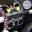 468 PCS Glitter Crystal Diamond decoratie / schijnt Rhinestone Sticker voor auto Sticker & celtelefoon Ornament (paars + zilver)
