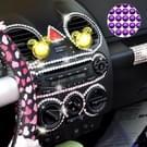 468 PCS Glitter Crystal Diamond decoratie / schijnt Rhinestone Sticker voor auto Sticker & mobiele telefoon Ornament(Purple)