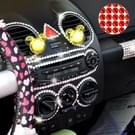 468 PCS Glitter Crystal Diamond decoratie / schijnt Rhinestone Sticker voor auto Sticker & mobiele telefoon Ornament(Red)