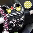 468 PCS Glitter Crystal Diamond decoratie / schijnt Rhinestone Sticker voor auto Sticker & mobiele telefoon Ornament(Yellow)