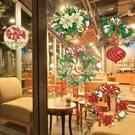 Kerst serie Glitter Stickers voor Home Decoratie  formaat: 30 5 x 30 5 cm