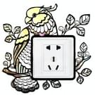 Waterdichte mooie Parrot patroon Cartoon Switch Socket Wall Stickers  grootte: 22 5 x 22 5 cm