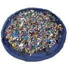 Opvouwbare Kid speelgoed opbergtas  formaat: 1 5 x 1 5 m (donkerblauw)