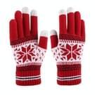 Multifunctionele drie vingers Touch scherm wol warme handschoenen  voor iPhone  Galaxy  Huawei  Xiaomi  LG  HTC en andere slimme Phones(Red)