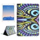 Uil patroon lederen hoesje met houder & opbergruimte voor pinpassen & portemonnee voor iPad Air 2 / iPad 6