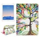 Tree patroon lederen hoesje met houder & opbergruimte voor pinpassen & portemonnee voor iPad Air 2 / iPad 6