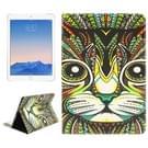 Cat patroon lederen hoesje met houder & opbergruimte voor pinpassen & portemonnee voor iPad Air 2 / iPad 6