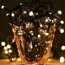 10m Water Resistant Warm wit LED decoratieve Light  100 LEDs String Lamp met einde Joint & Controller  knipperen / vervagen / jagen Effect  EU Plug  AC 220V