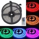 2 stk Epoxy waterdichte licht Strip  lengte: 5m 5050 SMD RGB LED licht met Power Supply & Remote Control afstandsbediening   60 LED/m  DC 12V