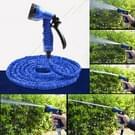 25FT telescopische buis uitbreidbaar magische flexibele tuin slang met spuitpistool Set(Blue) drenken