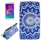 Kruis structuur Decorative patroon lederen hoesje met houder & opbergruimte voor pinpassen & portemonnee voor Samsung Galaxy Note 4