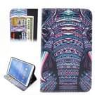Samsung Galaxy Tab 4 8.0 inch / T330 horizontaal Etnisch olifant patroon PU leren Flip Hoesje met houder en opbergruimte voor pinpassen & geld
