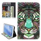 Samsung Galaxy Tab 4 8.0 inch / T330 horizontaal Etnisch leeuwenkop patroon PU leren Flip Hoesje met houder en opbergruimte voor pinpassen & geld