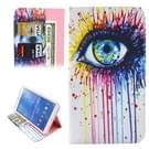 Samsung Galaxy Tab 4 8.0 inch / T330 horizontaal Oog patroon PU leren Flip Hoesje met houder en opbergruimte voor pinpassen & geld
