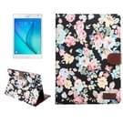 Samsung Galaxy Tab S2 8.0 / T715 horizontaal Bloemen patroon Kleding structuur PU leren Flip Hoesje met houder en opbergruimte voor pinpassen & geld (zwart)