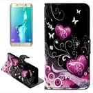 Hearts patroon horizontaal Flip lederen hoesje met opbergruimte voor pinpassen & portemonnee & houder voor Samsung Galaxy S6 Edge Plus / G9280