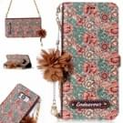 Voor Galaxy S8 Impatiens Balsamina patroon horizontale Flip lederen draagtas met houder & kaartsleuven & parelmoer bloem Ornament & keten