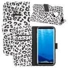 Voor Galaxy S9 Luipaard patroon PU + PC horizontaal lederen draagtas met houder & kaartsleuven & Wallet(White) spiegelen