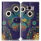 Samsung Galaxy S8 + / G9550 horizontaal Glanzend 3D Etnische stijl patroon PU leren Flip Hoesje met houder  foto frame en opbergruimte voor pinpassen & geld