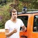 JOYROOM JR-H15 hoofdband Stereo draadloze Bluetooth hoofdtelefoon met Mic & AUX Audio-ingang functie  voor iPhone  Galaxy  Huawei  Xiaomi  LG  HTC en andere slimme Phones(White)